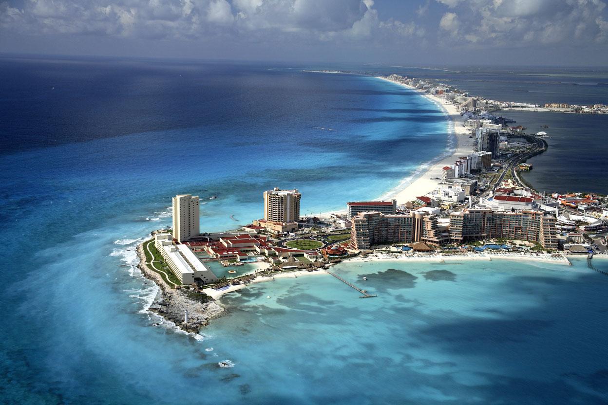 Cancun Hotel Zone Aerial Photo by Safa